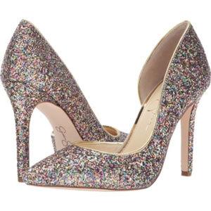 Jessica Simpson - Claudete 2 Rainbow glitter heels
